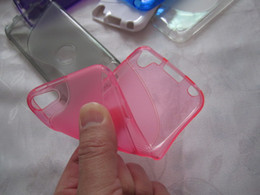 Venta al por mayor de Para Ipod Touch6 Touch5 Touch 6 6G 6th 5 5G 5th ipod6 Fashion S line S Wave Soft TPU Gel de gel Jelly antideslizante cubierta de piel colorida