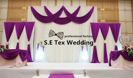$enCountryForm.capitalKeyWord NZ - Nice Looking White And Purple 3m*6m Ice Silk Wedding Backdrop Curtain \ Stage Background Free Shipping