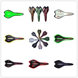$enCountryForm.capitalKeyWord Australia - D SA10 hot sale multi color green white yellow red orange yellow white decal painted bicycle saddle 3k weave products
