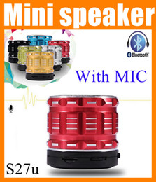Chinese  High quality Portable Mini Bluetooth speaker S27U amplifier wireless outdoor stereo system for phones tablet PC usb 2.1 speaker MIC MIS022 manufacturers