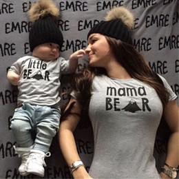 $enCountryForm.capitalKeyWord Canada - New Arrival Family Look Summer little mama Bear Pattern Family t shirt Mom Daughter Son Clothes Top Tee Family Matching Outfits