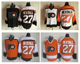 Men Philadelphia Flyers Ice Hockey Jerseys 27 Ron Hextall Throwback Vintage  CCM Authentic Stitched Jerseys Mix Mens NHL ... c3241d46e