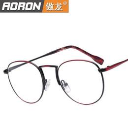 metal myopia frame 2019 - Wholesale-All metal Eyeglass frames Myopia glasses Frame glasses Big boxes to restore ancient ways Korean glasses frames