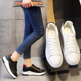quality free shipping for sale cheap sale find great Drop Ship Outdoors Casual Shoe Women Race Runner sport Shoes Woman Thick Sole Sneaker Students Patchwork Leather Breathable shoes A701 for sale under $60 YTr4cW