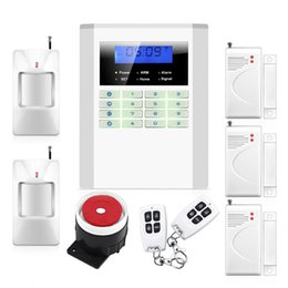 gsm gate Canada - Safearmed TM SF-10B Wireless Quad-band GSM SMS Alert Security Door Gate Motion Burglar Alarm System Kit