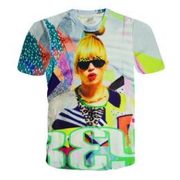 Vente en gros Alisister 2015 nouvelle mode t-shirt punk femme beyonce top femme harajuku tee shirt style d'été sexy 3d personnage t-shirt tops