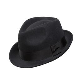 jazz hat wool 2019 - Wholesale-Crushhat 100% Wool From Australian Fedora Fashion Unisex Black Khaki Homburg Panama Jazz Hat FM008021 cheap ja