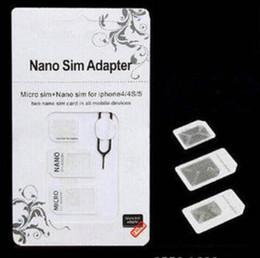 Discount iphone mobile device - 2019 NOOSY Nano Micro Sim Standard Card Convertion Converter4 in 1 Nano Sim Adapter Micro sim Card For Iphone 6 Plus All
