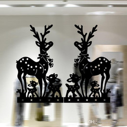 Christmas Removable Window Stickers Canada - Free DHL Home decoration wall decals Christmas decorations Window Stickers mural wall stickers home decor wallpaper LA72-7