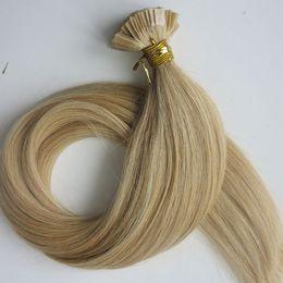 $enCountryForm.capitalKeyWord Canada - Pre bonded Flat Tip Hair Extensions 100g 100Strands 18 20 22 24inch #22 color Brown Brazilian Indian Keratin Human Hair