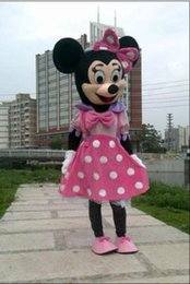 Barato Novo Minnie Mouse Trajes-2016 nova mushroomstreet traje da mascote rosa novo Minnie Mouse Adulto Sz Fancy Dress Halloween