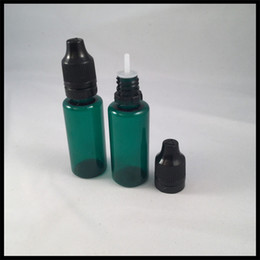 $enCountryForm.capitalKeyWord NZ - 20ml PET Plastic Bottles For Ejuice Dark Green With Needle Tip Dropper And Childproof Tamper Cap For E Cig Liquid