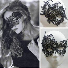 $enCountryForm.capitalKeyWord Canada - Beautiful lady Black Lace Floral Eye Mask Venetian Masquerade Fancy Party Dress Party Masks Halloween mask TY918