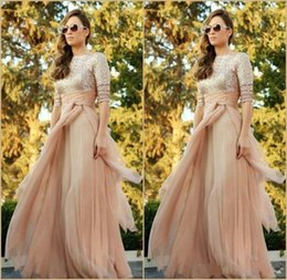 $enCountryForm.capitalKeyWord Canada - 2015 Stunning Sequined Evening Dresses Half Sleeves Jewel Neck A Line Prom Gowns Floor Length Chiffon Formal Gowns Special Occasion Dress