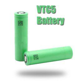 Vamo batteries online shopping - Hot selling Battery VTC5 Li on Battery mAh V A US18650 for All Electronic Cigarettes Mods VAMO V5 Nemesis Manhattan free ship