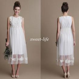 17e15c6c0579 Black white empire waist dresses online shopping - Fashion Short Maternity  Wedding Dresses Tea Length Tulle
