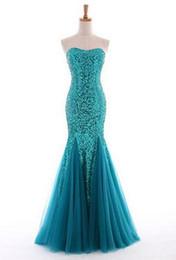 Abendkleider Sweetheart Lantejoulas Longo Sereia Vestido de Noite Fora Do Ombro Vestidos de Baile Vestido Longo De Renda em Promoção