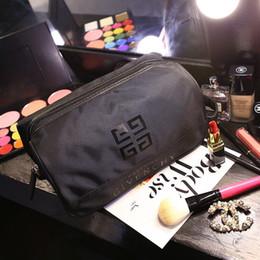 Female big bags online shopping - plain nylon cosmetic pouch female big wash gargle bag lady fashion hand bag popular wallet