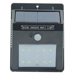China Led Solar Sensor Light Outdoor IP65 Waterproof 10 Leds Wall Lamp Solar Powered Panel Energy Saving PIR Motion Senser Garden suppliers