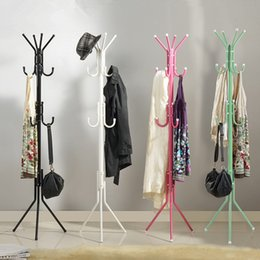 Coat Room Canada - Fashion Hat Bag Hang Coat Rack Metal Tripod Stand Coat Rack Tree Living Room Coat Rack Bedroom Floor hangers Clothes Rack Indoor Hanger