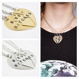 Discount two heart pendant - 10% OFF 2015 New ARRIVAL!HOT SALE CHEAP Best Bitches two   three disc peach mosaic Pendant Necklace fashion Couples Jewe