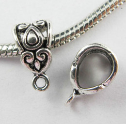 Wholesale Free 200Pcs lot Tibetan Silver Spacer Bail Beads Charms Pendant For Jewelry Making Bracelet 14x8mm