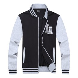 China Baseball Jacket Men 2017 Spring Brand Clothing Sweatshirt College patchwork color Men's Jackets Plus Size L-8XL cheap long college jacket suppliers