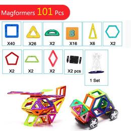 Discount 3d magnetic blocks - 101 Pieces Similar Toy Bricks 3D MAGNETIC TOY Magnetic Block Building Matched Toy Bricks