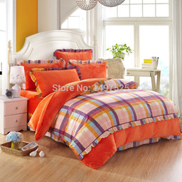 discount plaid flannel sheets queen cotton flannel plaid town printing bedding sets - Flannel Sheets Queen