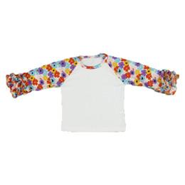 52a3363bd 2017 Now Posh Baby Girls T-shirt Western Girls Flower Icing Tees Autumn  Winter Ruffle Sleeve Children Clothing