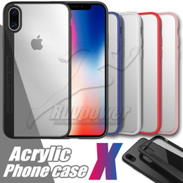 Back Pack Case NZ - Acrylic Case For Iphone X 8 7 Plus Back Cover Cases Good Quality Protector Mobile Phones with OPP Pack
