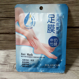 peeling foot mask NZ - wholes 50pcs ROLANJONA feet mask Baby Foot Peeling Renewal Foot Mask Remove Dead Skin Smooth Exfoliating Socks Foot Care Socks For Pedicure.