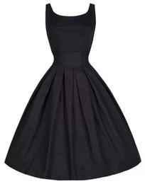 1950 s Vintage Retro Elbiseler Audrey Hepburn Retro 50 s 60 s Elbise Salıncak Elbise Kokteyl Balo Parti Elbiseler