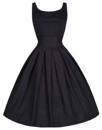 Años 50 Vestidos Retro Vintage Audrey Hepburn Retro 50s 60s Vestido Swing Cóctel de baile Vestidos de fiesta
