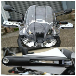 $enCountryForm.capitalKeyWord NZ - PAIR MOTORCYCLE BRUSH HAND GUARDS PROTECT PROTECTOR W  LED INDICATOR LIGHT 22MM