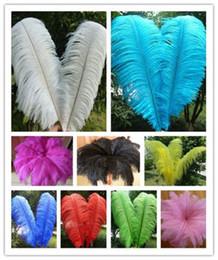 Venta al por mayor 10 unids Alta calidad hermosa pluma de avestruz 40-45 cm / 16-18 pulgadas U selección Color de la boda pieza central decoración