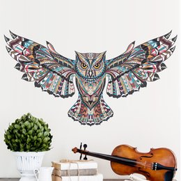 Wholesale Cartoon Owl Animal Children Baby Bedroom Wall Sticker For Kids Rooms Eagle Hawk Wall Painted Tatoo Home Decor Art Decals
