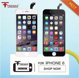 100% тест высокое качество AAA ЖК-дисплей для Apple iPhone 6 ЖК-экран замена Ассамблеи черный белый свободный корабль DHL
