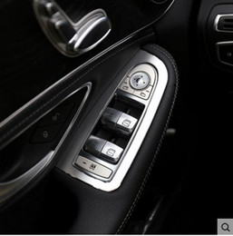 $enCountryForm.capitalKeyWord NZ - Car Door Window Lift Switch Button Panel Cover Trim Frame For Benz GLC Class X253 GLC200 GLC250 GLC300 2015 2016