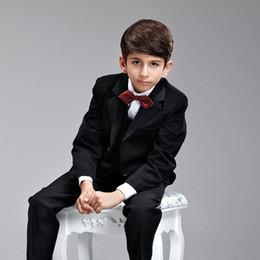 Gray Suit Champagne Tie Australia - 2015 Free shipping Boys' Attire Five-piece suit Coat   Pants   Vest   Tie   Girdle Children's clothes Boy dress Pageant dress