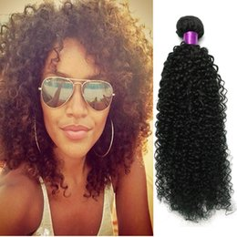 Big Curly Hair Weave Canada - Big Sale 5A Malaysian Virgin Hair Sexy Malaysian Kinky Curly Hair Wefts No Tangling Curly Malaysian Curly Hair Extensions Afro Kinky