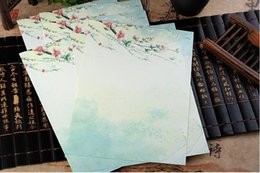 $enCountryForm.capitalKeyWord Canada - Stationery Chinese Traditional Style paper for printing and writing Peach Plum flow and Sakura 8pcs per set Orc