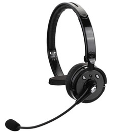 Bh Phone Canada - BH-M10B Boom Mono Wireless Bluetooth Headset Multi-point Earphone Hands-free Headphone Voice Dailing for Smart Phone Tablet PC