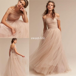 China Junior Beach Cheap 2017 A Line Bridesmaid Dresses Off The Shoulder sleeveless Zipper Tulle Pleats Tiered Skirts Girls dresses for wedding supplier junior bridesmaid dresses for beach suppliers