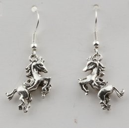 925 silver wire earrings 2019 - Earring. 20 Pair Antiqued Silver 3D Horse Charm Earrings With 925 silver Fishhook Ear Wire 19 X 39mm cheap 925 silver wi