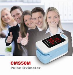 CMS50M Oxymètre de pouls au bout des doigts Moniteur d'oxygène sanguin Spo2 / PR avec étui de transport DEL BLACK POUCH LIVRAISON GRATUITE