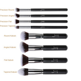 $enCountryForm.capitalKeyWord Australia - Jessup Brand Professional 8pcs Black Silver Foundation Blush Liquid Kabuki Brush Makeup Brushes Tools Set Beauty Cosmetics Kit