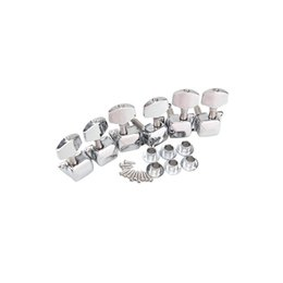 Electric Guitar Machine Head Tuners NZ - 6pcs setChrome Electric Acoustic Guitar String Tuning Pegs Tuners Machine Heads guitar tuning pegs