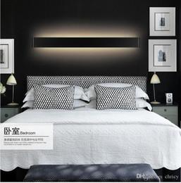 Modern Art Deco Bathrooms Canada - 2016 new design Modern 41cm Long 14W Aluminum LED Wall Lamps for livingroom bathroom as Decoration Sconce Light 90-260V lamparas de pared