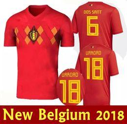 f8f261960f5 ... Top quality chandal futbol Belgium Home Soccer Jersey 2018 world cup  Eden Hazard LUKAKU FELLAINI KOMPANY 2016-2017 ...